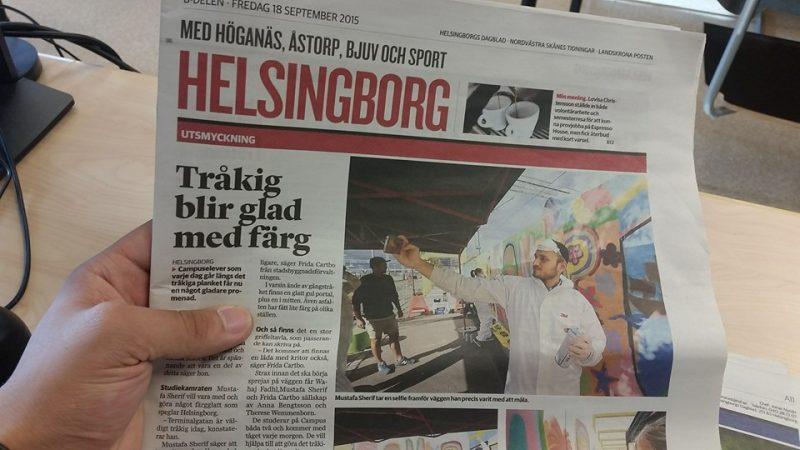 Artikel om Mustafa i Helsingsbord Dagblad
