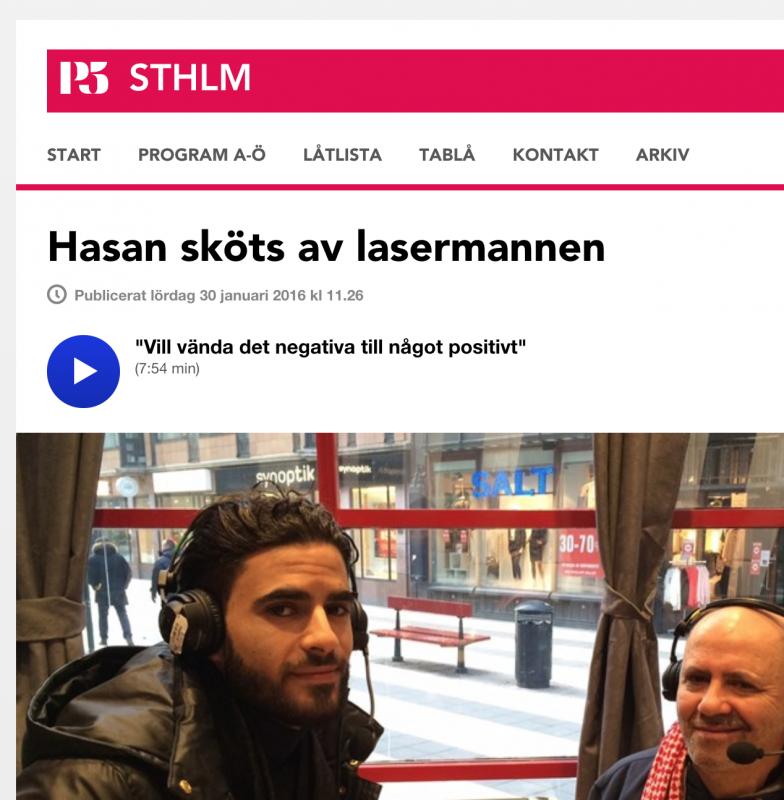 Mustafa pratar om 'Hasans vänner' i Sveriges Radio P5