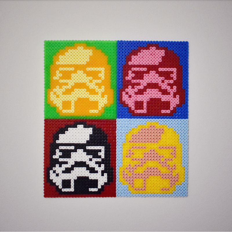 Stormtroopers in pop art