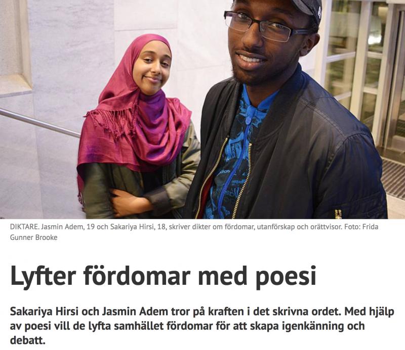 Artikel om Sakariya Hirsi i Stockholm Direkt